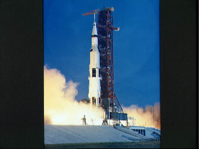 Liftoff of the Apollo 11 lunar landing mission