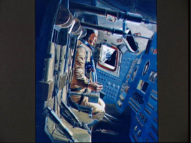 Artist S Concept Of Apollo 12 Command Module S Interior